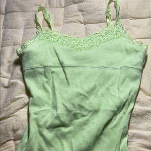 Girls bright lime green tank top